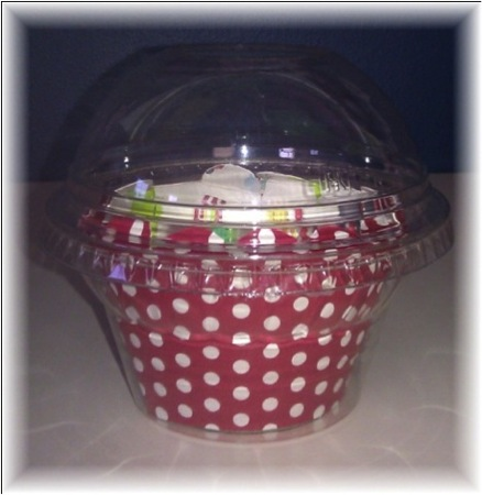 Crystal Clear Cupcake Box w/Dome Lid